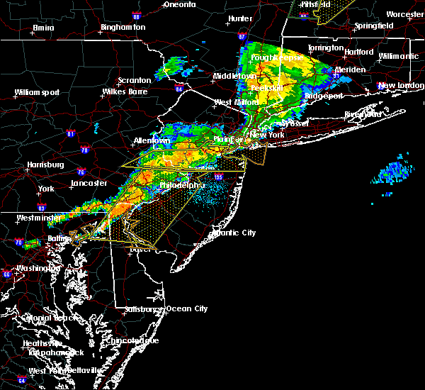Radar Image for Severe Thunderstorms near Clayton, NJ at 8/22/2017 11:03 PM EDT