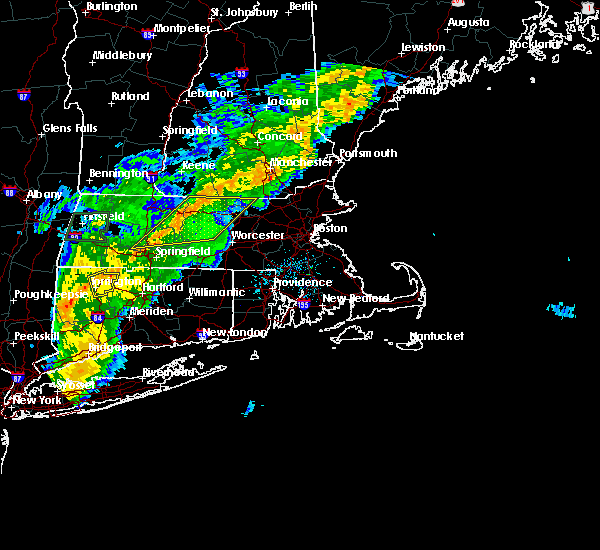 Radar Image for Severe Thunderstorms near Holyoke, MA at 8/22/2017 11:37 PM EDT