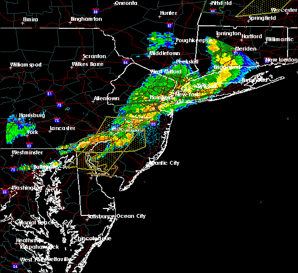 Radar Image for Severe Thunderstorms near Oak Valley, NJ at 8/22/2017 11:52 PM EDT