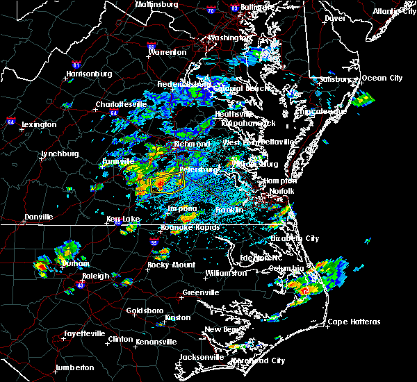 Radar Image for Severe Thunderstorms near Fort Lee, VA at 8/23/2017 2:27 PM EDT