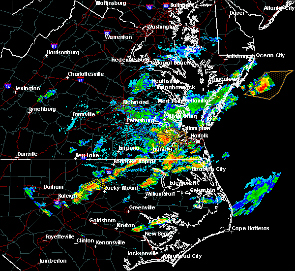Radar Image for Severe Thunderstorms near Chesapeake, VA at 8/23/2017 4:34 PM EDT