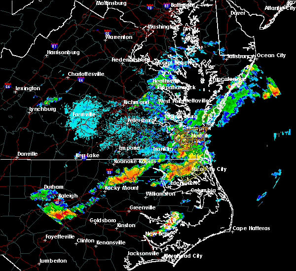 Radar Image for Severe Thunderstorms near Chesapeake, VA at 8/23/2017 5:20 PM EDT