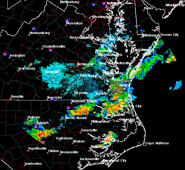 Radar Image for Severe Thunderstorms near Chesapeake, VA at 8/23/2017 5:29 PM EDT