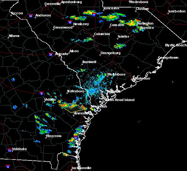 Radar Image for Severe Thunderstorms near Pembroke, GA at 8/23/2017 6:06 PM EDT