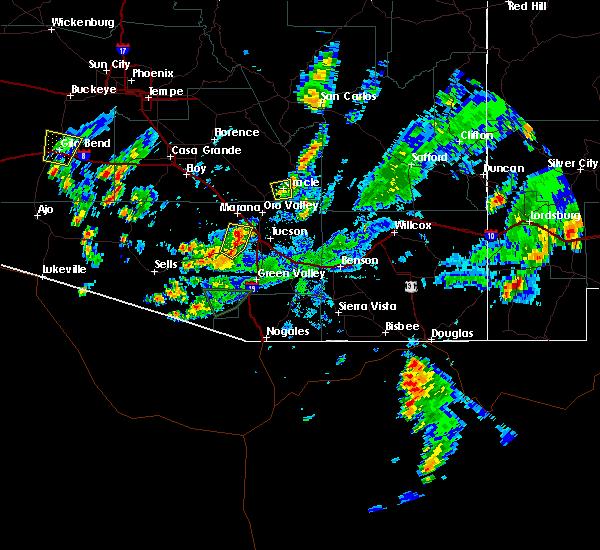 Radar Image for Severe Thunderstorms near Tucson, AZ at 8/23/2017 4:07 PM MST