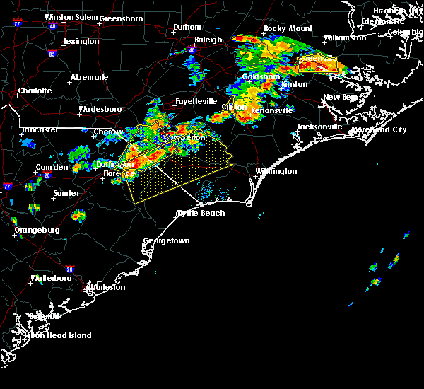 Radar Image for Severe Thunderstorms near Fair Bluff, NC at 8/23/2017 7:13 PM EDT