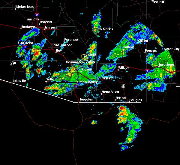 Radar Image for Severe Thunderstorms near Tucson, AZ at 8/23/2017 4:28 PM MST