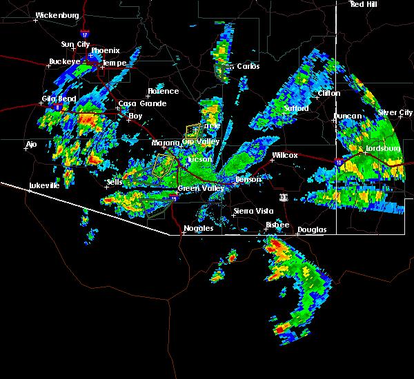 Radar Image for Severe Thunderstorms near Tucson, AZ at 8/23/2017 4:44 PM MST
