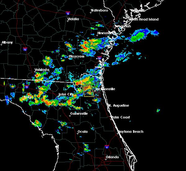 Radar Image for Severe Thunderstorms near Jacksonville, FL at 8/24/2017 5:42 PM EDT