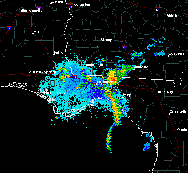Radar Image for Severe Thunderstorms near Tallahassee, FL at 8/25/2017 11:01 PM EDT