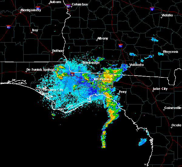 Radar Image for Severe Thunderstorms near Tallahassee, FL at 8/25/2017 11:22 PM EDT