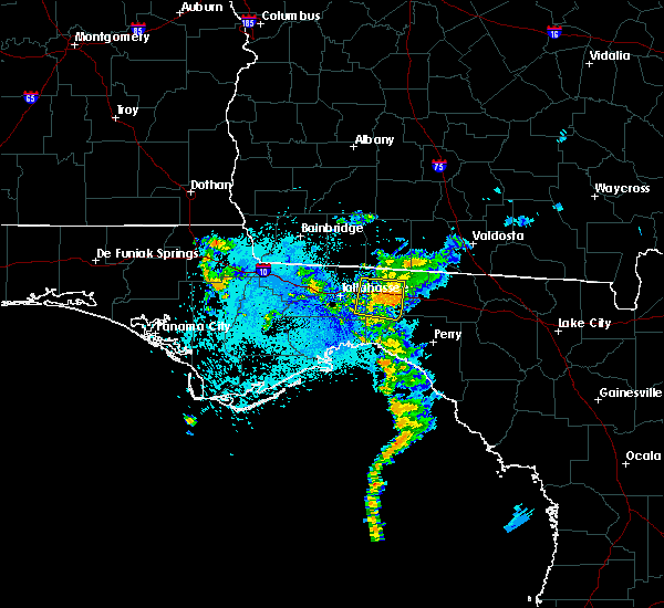 Radar Image for Severe Thunderstorms near Tallahassee, FL at 8/25/2017 11:29 PM EDT