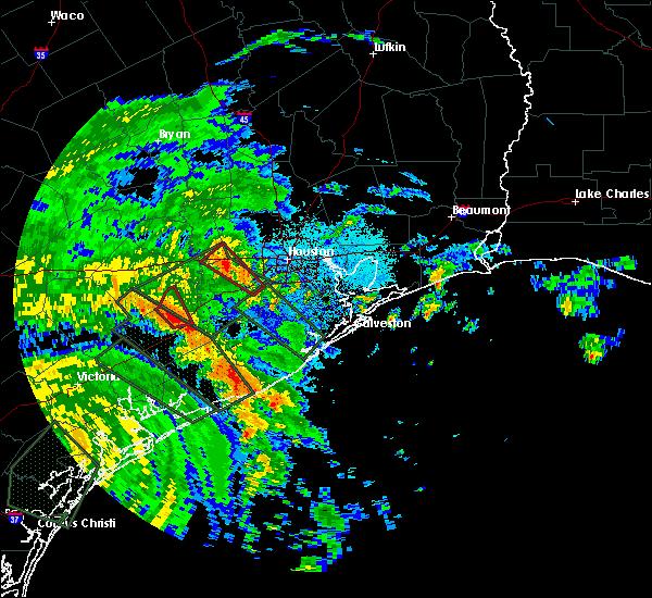 Radar Image for Severe Thunderstorms near Wharton, TX at 8/26/2017 2:18 AM CDT