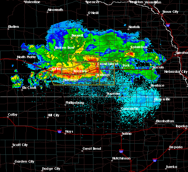 Radar Image for Severe Thunderstorms near Grand Island, NE at 8/27/2017 4:33 AM CDT