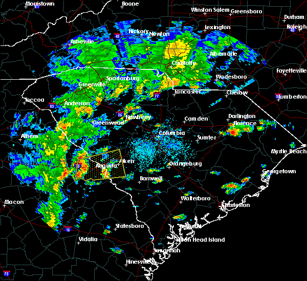 Radar Image for Severe Thunderstorms near Belvedere, SC at 8/31/2017 3:29 PM EDT