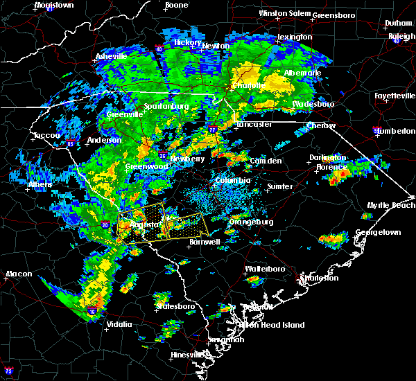 Radar Image for Severe Thunderstorms near Belvedere, SC at 8/31/2017 4:10 PM EDT