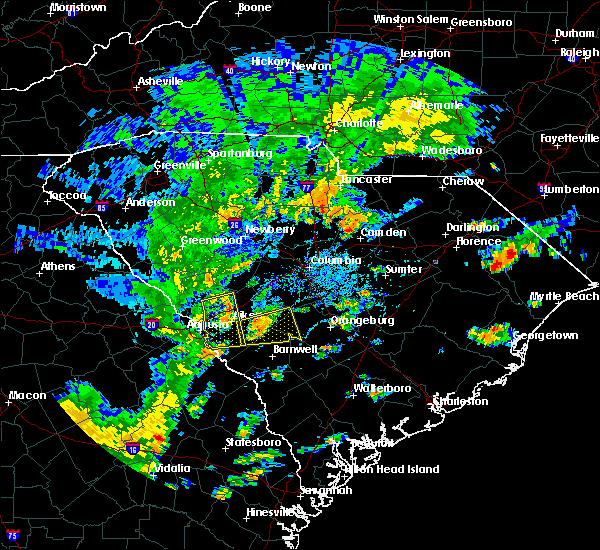 Radar Image for Severe Thunderstorms near Belvedere, SC at 8/31/2017 4:25 PM EDT
