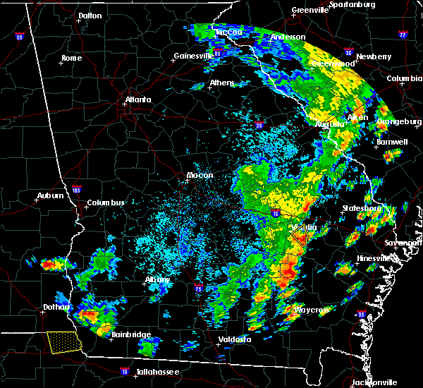 Radar Image for Severe Thunderstorms near Lyons, GA at 8/31/2017 4:52 PM EDT