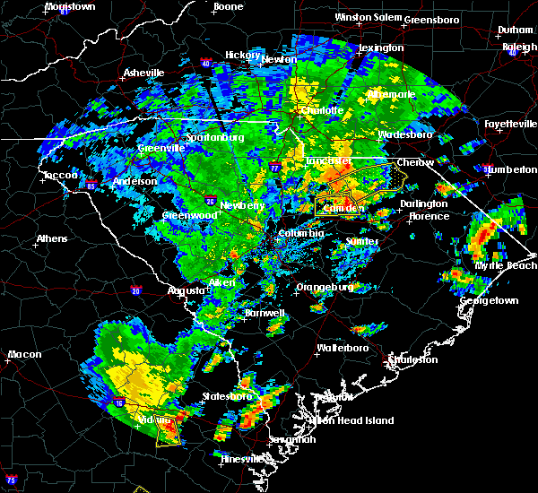 Radar Image for Severe Thunderstorms near Patrick, SC at 8/31/2017 5:11 PM EDT