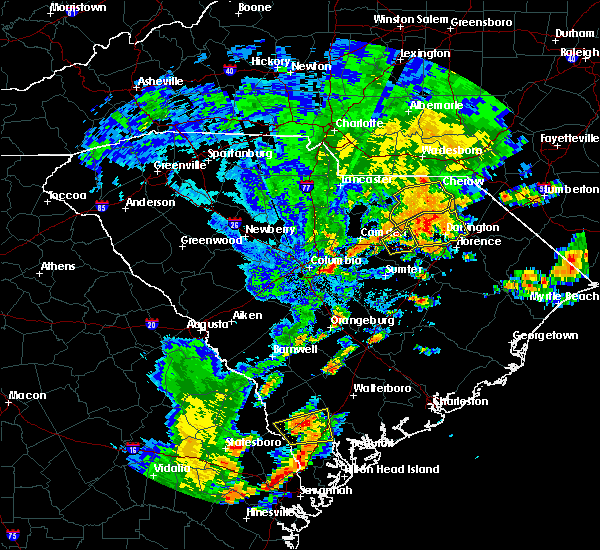 Radar Image for Severe Thunderstorms near Patrick, SC at 8/31/2017 5:48 PM EDT