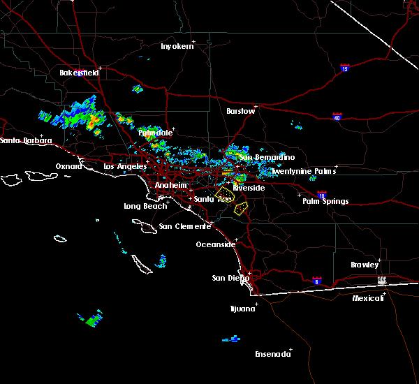 Radar Image for Severe Thunderstorms near Lake Elsinore, CA at 8/31/2017 3:19 PM PDT