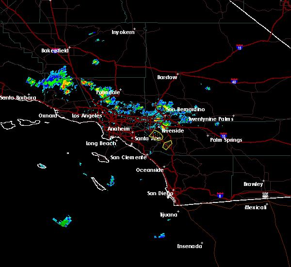 Radar Image for Severe Thunderstorms near Lake Elsinore, CA at 8/31/2017 3:28 PM PDT