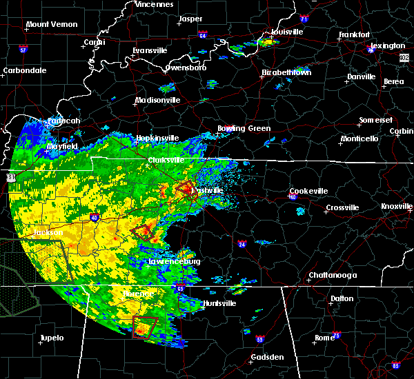 Radar Image for Severe Thunderstorms near Nashville, TN at 8/31/2017 6:00 PM CDT
