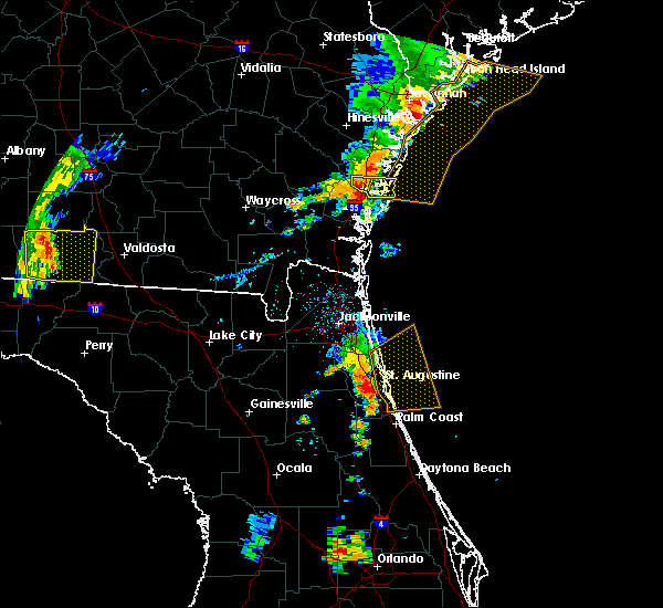 Radar Image for Severe Thunderstorms near Darien, GA at 8/31/2017 7:24 PM EDT