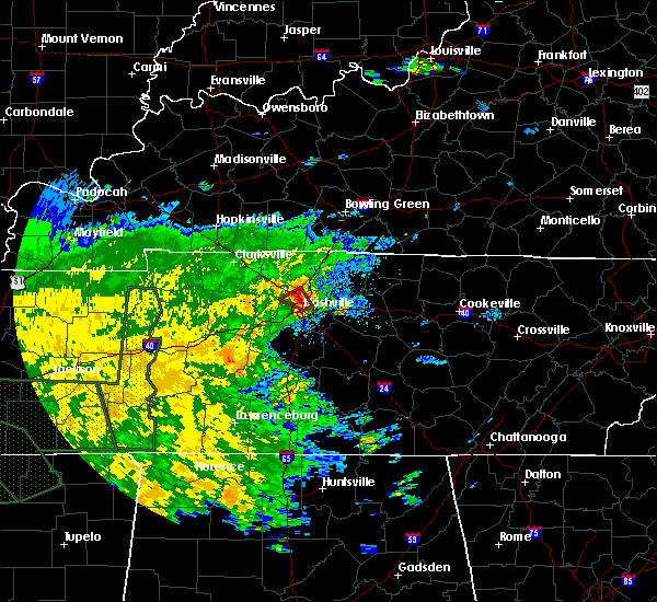 Radar Image for Severe Thunderstorms near Nashville, TN at 8/31/2017 6:24 PM CDT