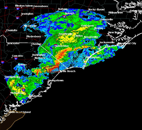 Radar Image for Severe Thunderstorms near Myrtle Beach, SC at 8/31/2017 8:13 PM EDT