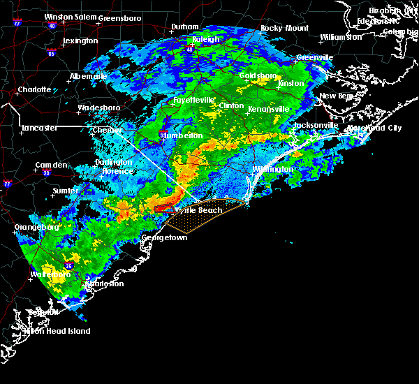 Radar Image for Severe Thunderstorms near Myrtle Beach, SC at 8/31/2017 8:34 PM EDT