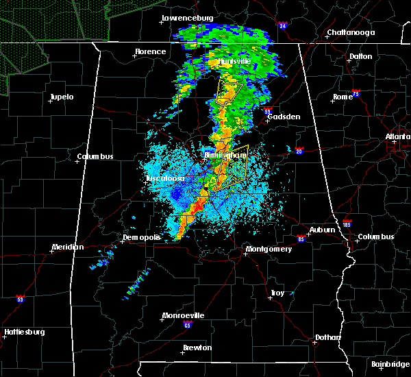 Radar Image for Severe Thunderstorms near Pell City, AL at 8/31/2017 9:36 PM CDT