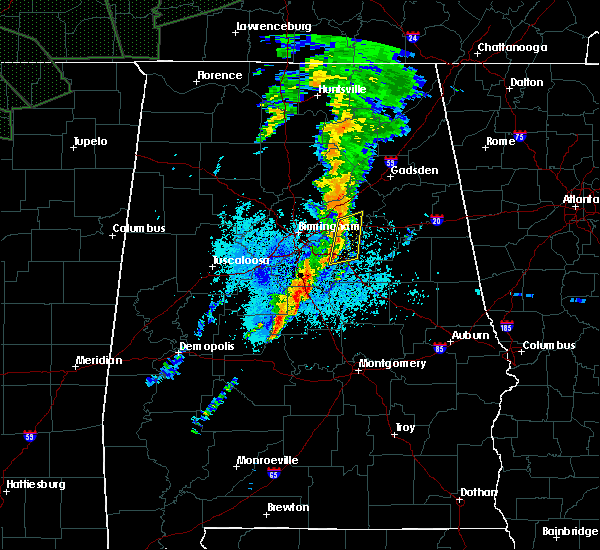 Radar Image for Severe Thunderstorms near Pell City, AL at 8/31/2017 9:47 PM CDT