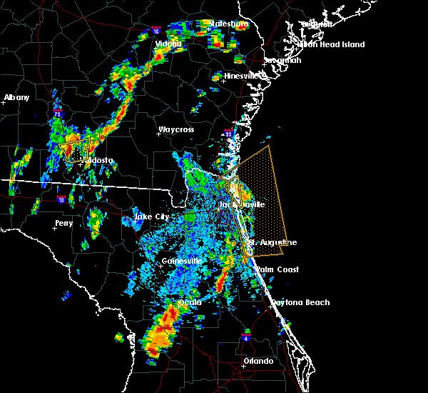 Radar Image for Severe Thunderstorms near Jacksonville, FL at 9/1/2017 2:36 PM EDT