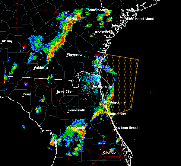 Radar Image for Severe Thunderstorms near St. Augustine South, FL at 9/1/2017 3:22 PM EDT