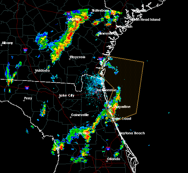 Radar Image for Severe Thunderstorms near St. Augustine South, FL at 9/1/2017 3:40 PM EDT