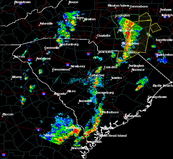 Radar Image for Severe Thunderstorms near Gibson, NC at 9/1/2017 4:26 PM EDT