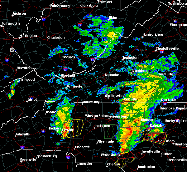 Radar Image for Severe Thunderstorms near Taylorsville, NC at 9/1/2017 5:21 PM EDT