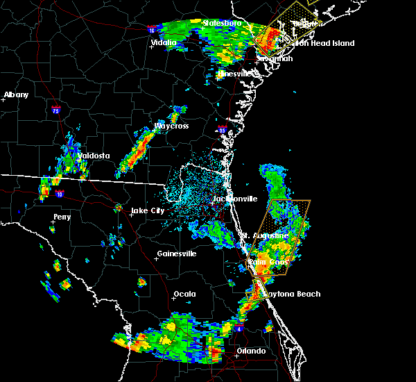 Radar Image for Severe Thunderstorms near Daytona Beach, FL at 9/1/2017 5:27 PM EDT
