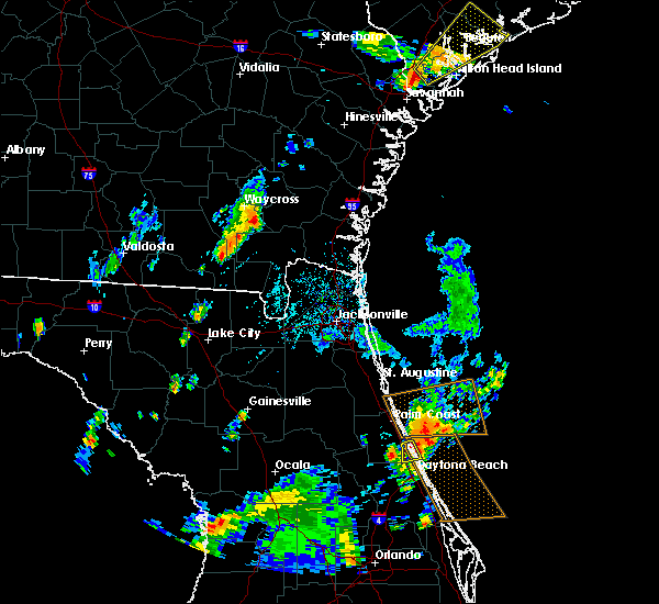 Radar Image for Severe Thunderstorms near Ormond Beach, FL at 9/1/2017 5:57 PM EDT