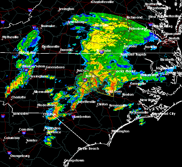 Radar Image for Severe Thunderstorms near Wilson, NC at 9/1/2017 6:43 PM EDT