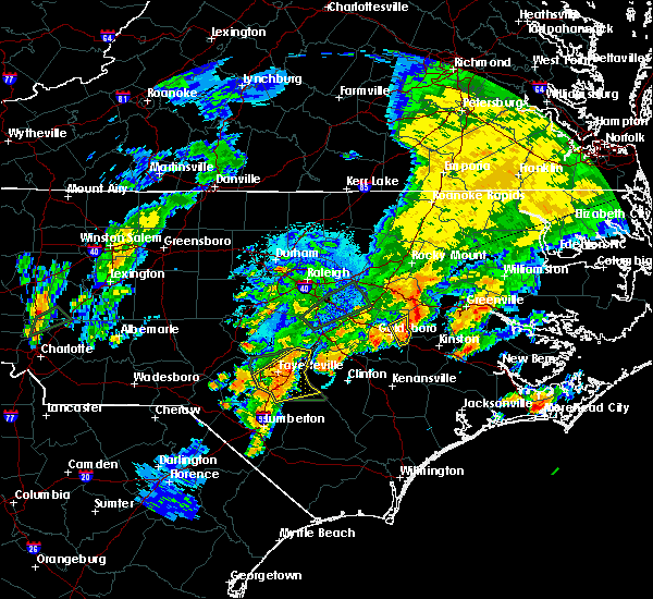 Radar Image for Severe Thunderstorms near Fayetteville, NC at 9/1/2017 8:17 PM EDT
