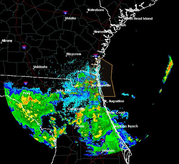 Radar Image for Severe Thunderstorms near Jacksonville, FL at 9/1/2017 10:56 PM EDT