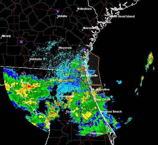 Radar Image for Severe Thunderstorms near Jacksonville, FL at 9/1/2017 11:09 PM EDT