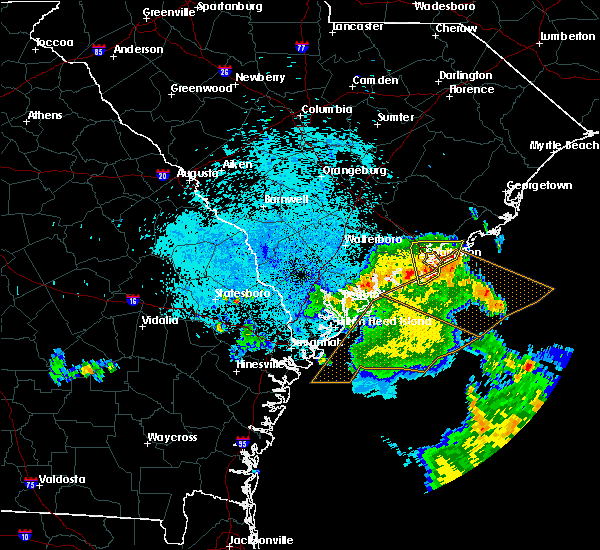 Radar Image for Severe Thunderstorms near Kiawah Island, SC at 9/2/2017 4:06 AM EDT