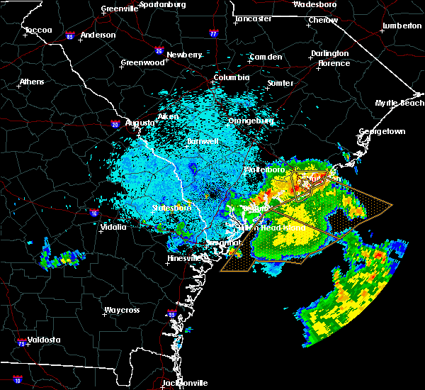 Radar Image for Severe Thunderstorms near Kiawah Island, SC at 9/2/2017 4:15 AM EDT