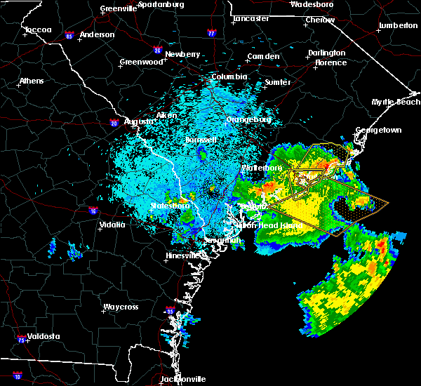 Radar Image for Severe Thunderstorms near Charleston, SC at 9/2/2017 4:30 AM EDT