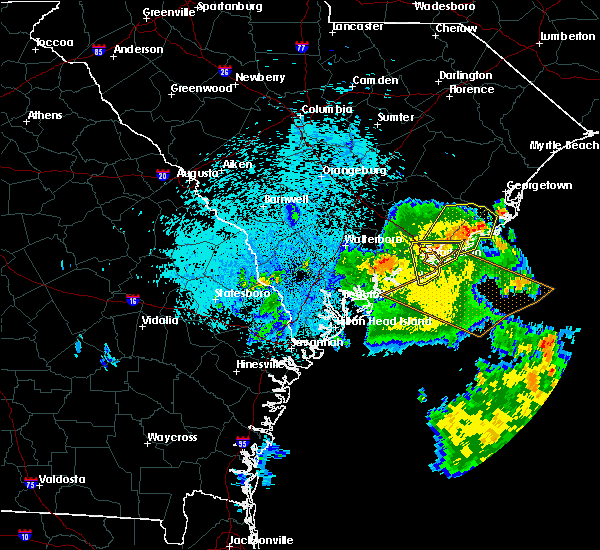 Radar Image for Severe Thunderstorms near Charleston, SC at 9/2/2017 4:39 AM EDT