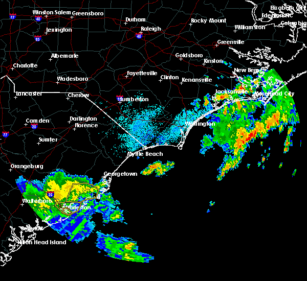 Radar Image for Severe Thunderstorms near Charleston, SC at 9/2/2017 4:51 AM EDT