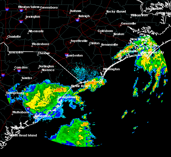 Radar Image for Severe Thunderstorms near Ocean Isle Beach, NC at 9/2/2017 5:54 AM EDT